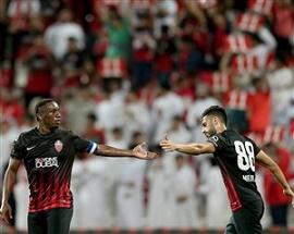 شکست استقلال برابر الاهلی امارات در پایان نیمه اول