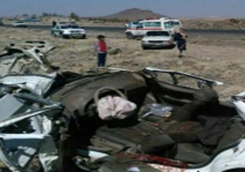 ۵ کشته در تصادف مرگبار محور فهرج - زاهدان