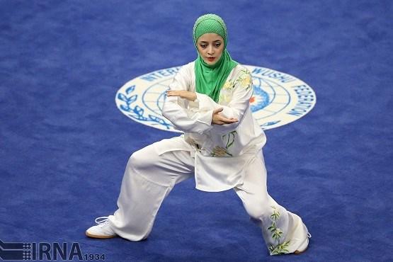 مرد ها تصاویر زیبا از حرکات ووشو کار زن ایرانی در رقابتهای اینچئون