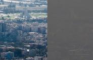 مقایسه تصویری هوای آلوده و پاک تهران