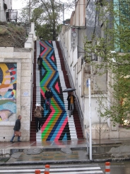 رنگ آمیزی پله ی سوم خیابان ولیعصر(عج)