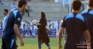 نیکی کریمی در میان فوتبالیستها/تصاویر
