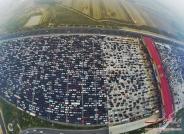 ترافیک دیوانه کننده در ورودی پکن با 50 لاین خودرو
