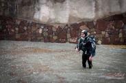 بارندگی شدید در شیراز غواص ها را به خیابان کشاند (عکس)