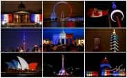 ابراز همدردی کشورهای مختلف با مردم فرانسه /عکس