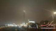 برج میلاد در مه + تصاویر
