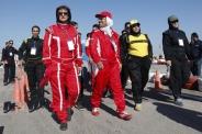 رقابت زنان و مردان اتومبیلران در اهواز