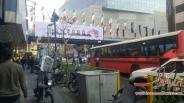 تردد مردم در خیابان های منتهی به اطراف ساختمان پلاسکو / تصاویر