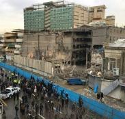 برج ۵۴ ساله تهران بعد از آواربرداری و دیوارکشی