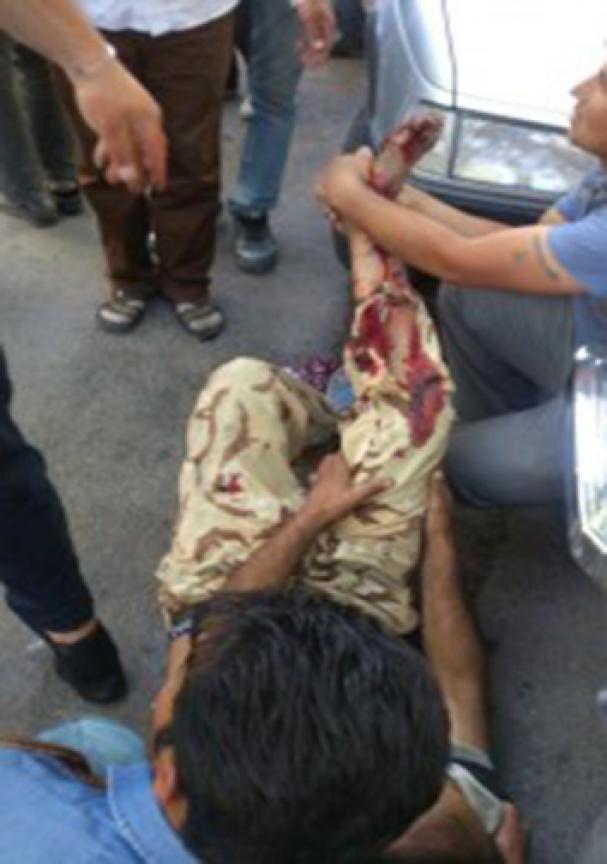 یک زخمی در سرقت مسلحانه از طلافروشی + تصاویر