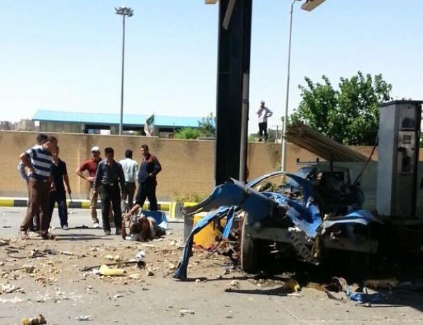 انفجار در جایگاه گاز در شهرقدس + تصاویر