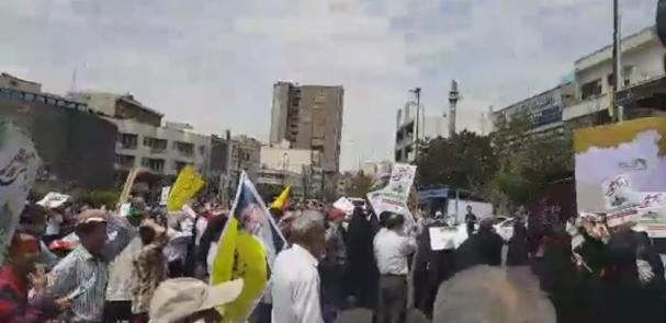 فیلم : حضور پر شور مردم تهران در روز جهانی قدس ( 2 )