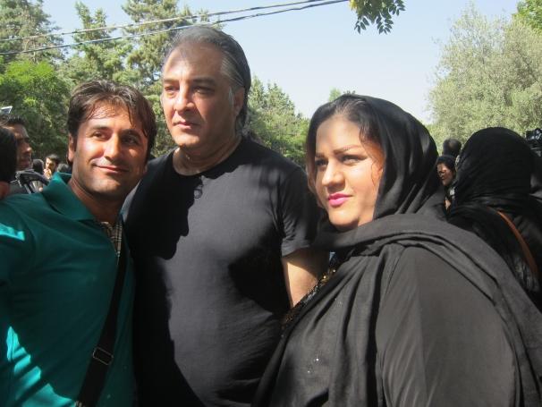 فیلم : ایرج نوذری و شهین تسلیمی در مراسم عباس کیارستمی