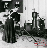 عکس : جاروبرقیهای اولیه با وزنی در حدود 100 کیلوگرم
