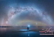 تصاویر بی نظیر از انعکاس کهکشان راه شیری در نمک زار بولیوی