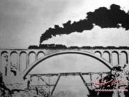 عکس : عبور اولین قطار از روی پل ورسک مازندران