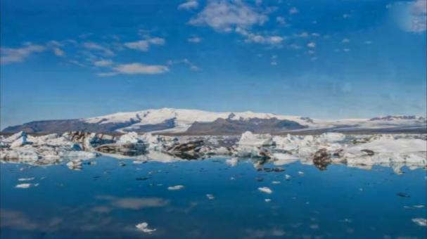 فیلمی خیره کننده از گذر زمان در طبیعت ایسلند