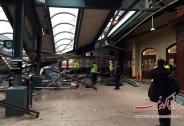 تصاویر سقوط قطار در ایستگاه هوبوکن نیو جرسی