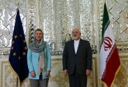 عکس : پوشش خانم موگرینی در دیدار با ظریف