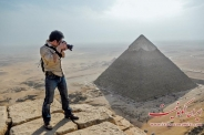 عکس : خطای دید جالب از اهرام مصر