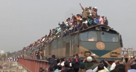 فیلم : شلوغ ترین راه آهن جهان