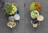 تصاویر : فروشندگان خیابانی ویتنام از نمای بالا