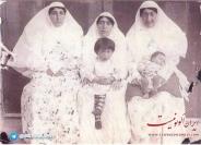 عکس : زنان مظفرالدین شاه حدود ۱۲۹۳ شمسی
