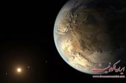 زمین و ماه در  قاب یک تصویر