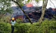 تک عکس : گدازه های آتشفشان در هاوایی