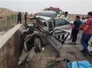 تصاویر | متلاشی شدن پژو ۴۰۵ و مرگ زن و مرد جوان در آزادراه تهران-قم