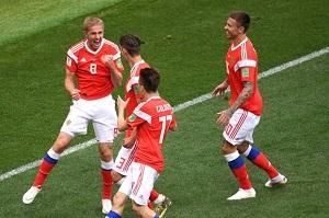 بازیکن روسیه زننده اولین گل جام جهانی 2018