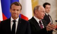 تک عکس : چشمک مکرون در نشست خبری با پوتین