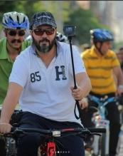 تصاویر:آقای بازیگر به کمپین «سهشنبههای بدون خودرو» پیوست