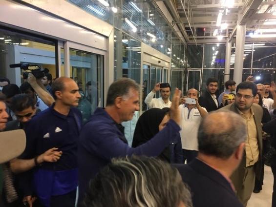 استقبال از اعضای تیم ملی فوتبال در فرودگاه امام خمینی