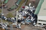 تصاویری از توفان ۲۰۰ کیلومتری در ژاپن
