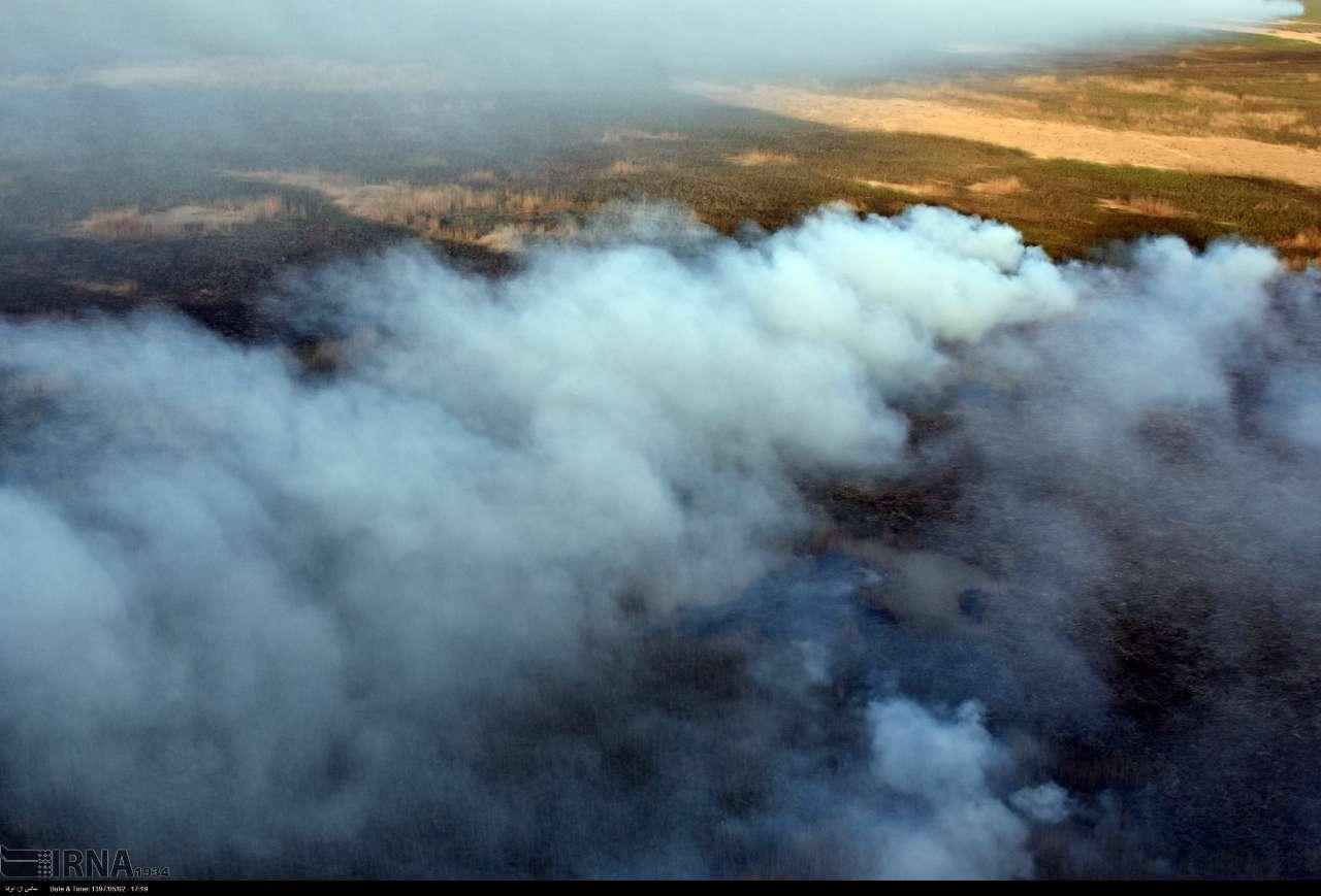 آتشسوزی در هورالعظیم با گذشت بیش از 70 روز ادامه دارد