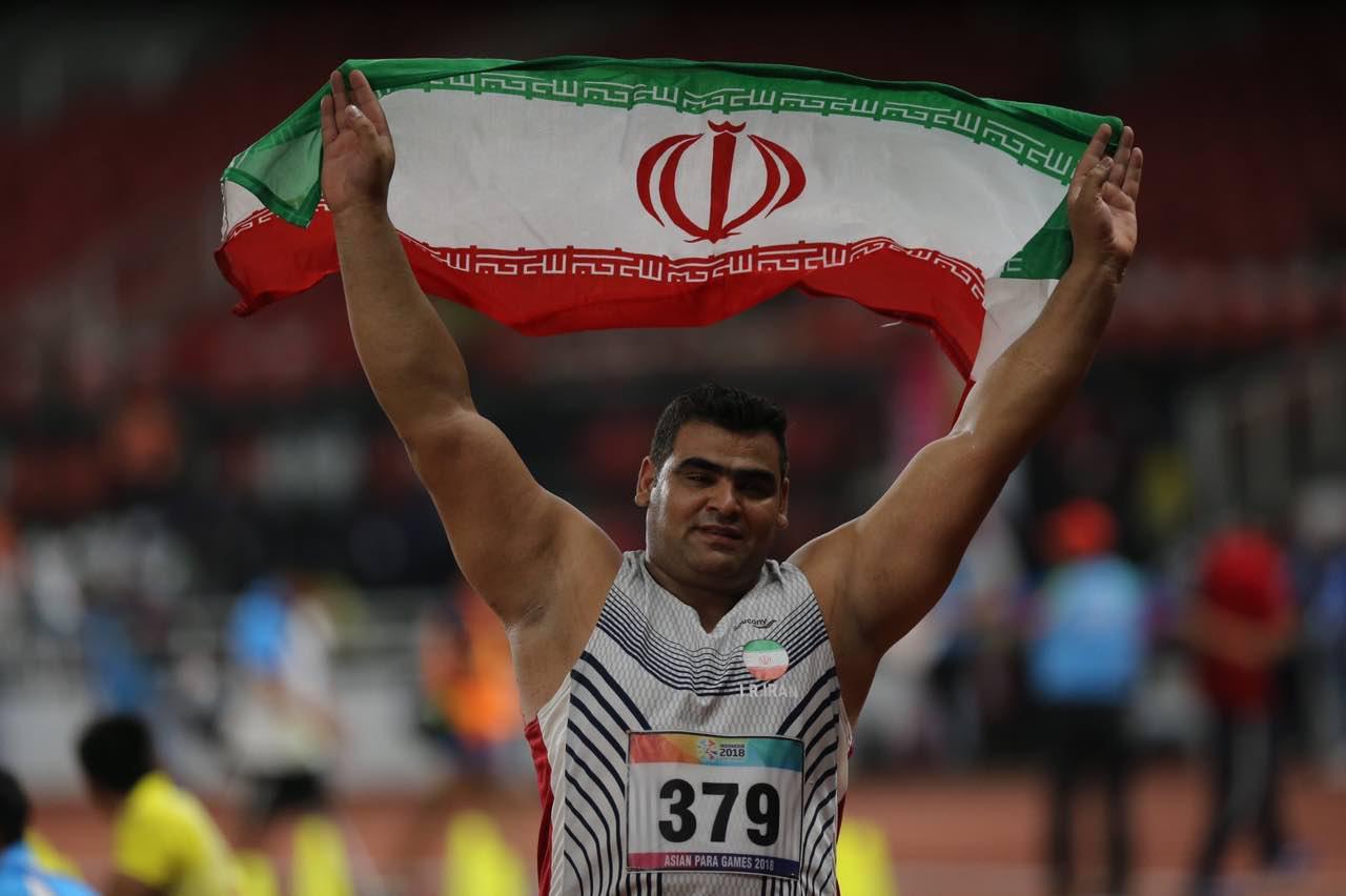 بازیهای پاراآسیایی 2018؛ نماینده پرتاب وزنه ایران با رکوردشکنی مدال طلا گرفت