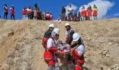 تصاویر: مانور امداد و نجات هلال احمر در بجنورد و مشهد