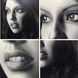 تصاویر باور نکردنی از نقاشی های سیاه قلم