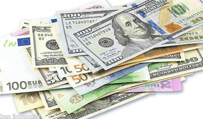 نرخ رسمی یورو و پوند و سایر ارزها 26 دی ماه