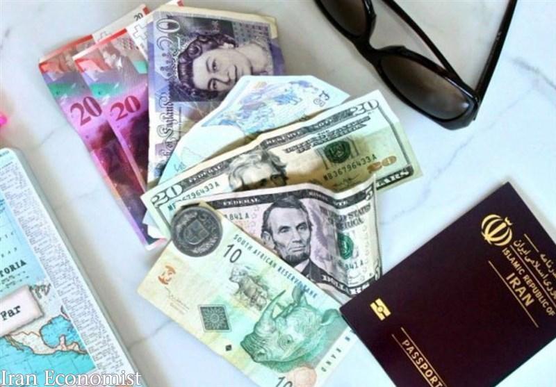 قیمت ارز مسافرتی در صرافیهای بانکی