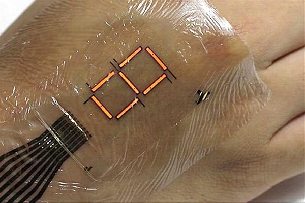 نمایشگر کوچک قابل نصب بر روی پوست